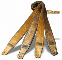 Weathered Patina Padded Leather Guitar Straps