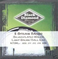 Black Diamond Light Gauge 5-String Banjo Strings