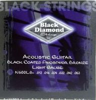Black Diamond Phos Brnz 12-53 BLACK Acoustic Guitar Strings