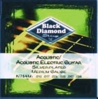 N754M 13-56 Silver Plated Acoustic Electric Guitar Strings