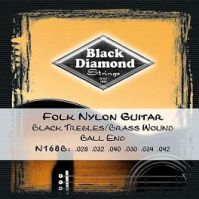 Black Diamond Ball End Nylon Folk Guitar Strings