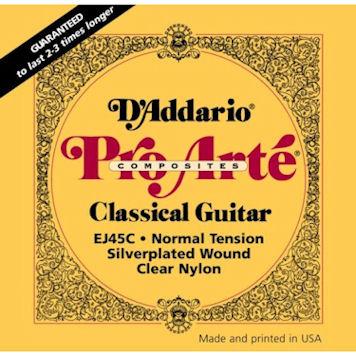 3b0438c1fd64 D Addario EJ45C Composite Normal Tension Classical Guitar Strings