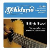 D'Addrio EJ40 Silk & Steel Acoustic Guitar Strings