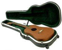 SKB ATA-18RW Molded Rolling Acoustic Guitar Case With Wheels