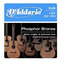 EJ16 Phosphor Bronze 12-53 Acoustic Guitar Strings