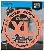 D'Addario EXL110W 10-46 Wound 3rd Electric Guitar Strings