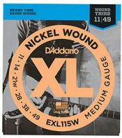 D'Addario EXL115W Wound 3rd Electric Guitar Strings