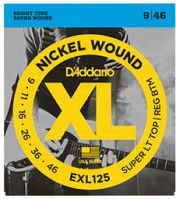D'Addario EXL125 Lt Top/Reg Bottom Electric Guitar Strings