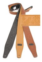 Embossed Leather Guitar Straps