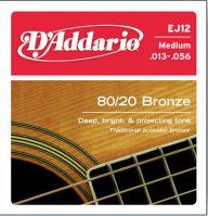 EJ12 Bronze Medium 13-56 Acoustic Guitar Strings
