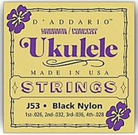 D'Addario J53 Black Nylon Hawaiian Concert Ukulele Strings