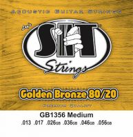 SIT Golden Bronze 13-56 Medium Acoustic Guitar Strings