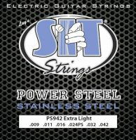 SIT Power Steel Stainless 9-42 Electric Guitar Strings